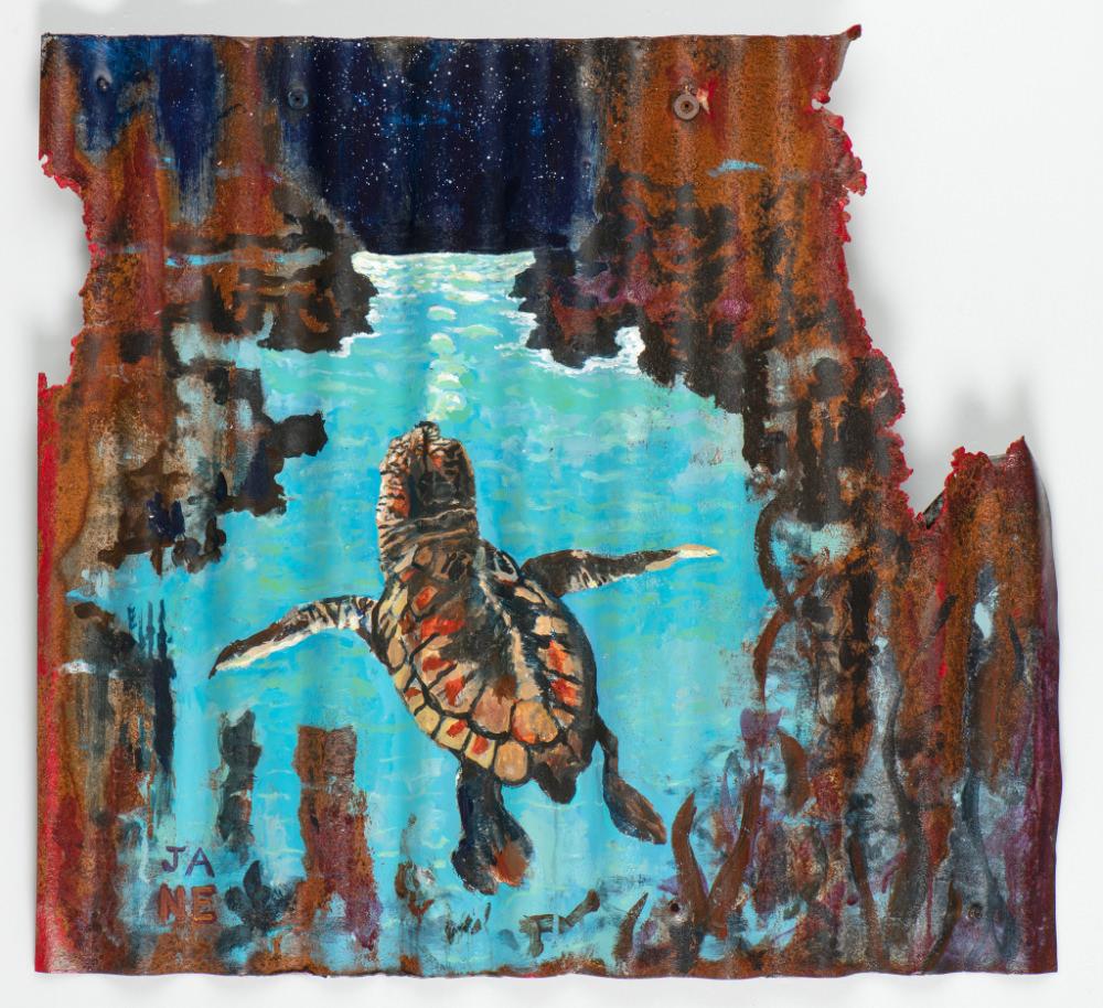 Animals Matter Baby Turtle By John Adams 2020 Acrylic On Metal 80x60cm E1800